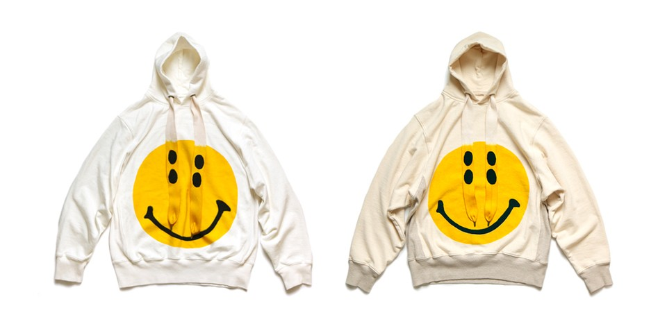 KAPITAL Unveils Boxy Cream-Colored Smiley Hoodies