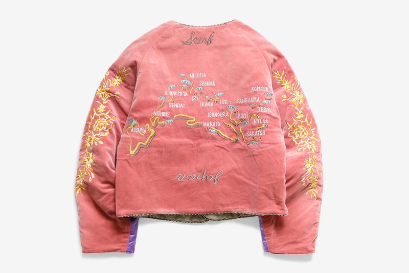 KAPITAL Velveteen J WAVE Souvenir Jacket menswear streetwear bomber quilted flight sukajan spring summer 2020 collection kiro hirata japanese designer embroidery double