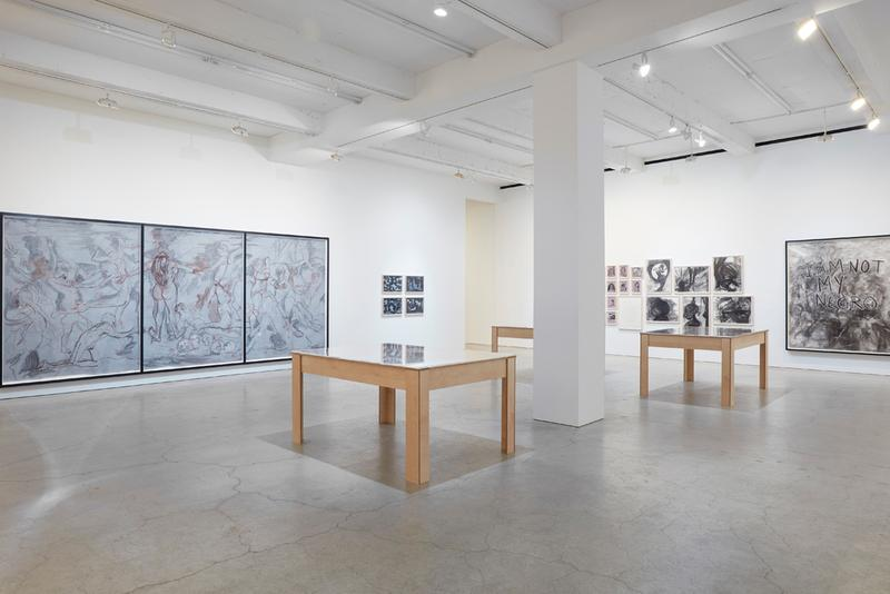 "Kara Walker ""Drawings"" Series Exhibition Sikkema Jenkins & Co Gallery Crayon Ink Watercolor Works on Paper Barack Obama"