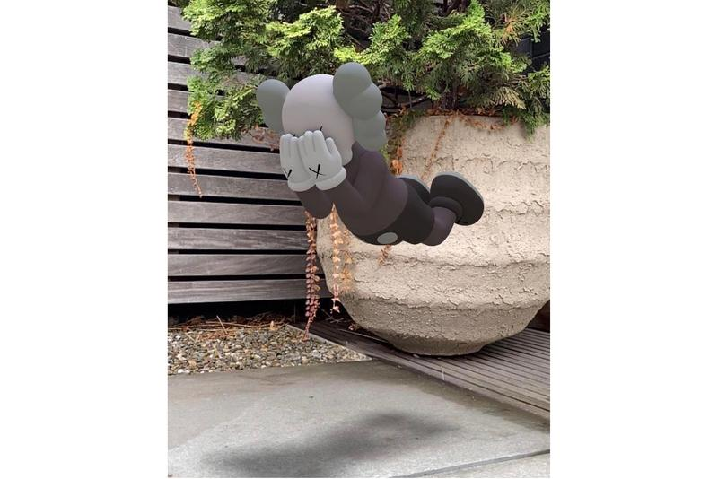 kaws acute art companion expanded holiday augmented reality sculpture edition