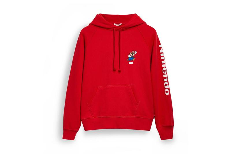 "Nintendo x Levi's ""Super Mario"" Collection Collaboration Mario Luigi Yoshi Princess Peach Toad Denim Jacket Jorts T-shirts Hoodies Tote Bags Blue Red White"