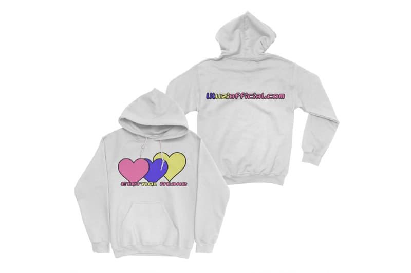 Lil Uzi Vert 'Eternal Atake' Merch, Accessories 2020 may 15 release date info buy web store sweatpants hoodie tee shirt poster black light tray album