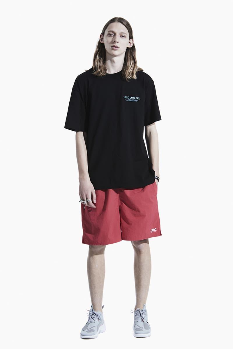LMC Summer 2020 Lookbook collection menswear streetwear layers korean brand seoul hoodies jackets love peace t shirts graphics parka denim jeans shorts hats caps long sleeves sweaters