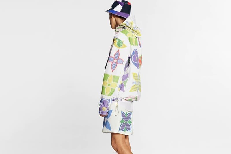 Louis Vuitton SS20 Multicolor Monogram Giacche a vento virgil abloh giacche cappotti monogramma estivo Ikat colorante