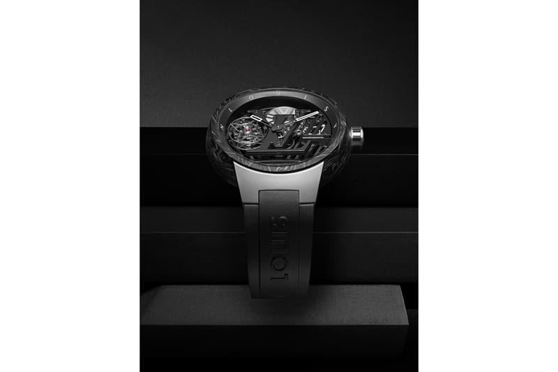 Louis Vuitton Tambour Curve Flying Tourbillon Poinçon de Genève Watch Black