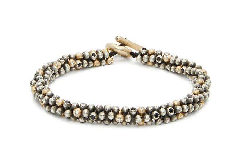 m cohen shimu diamond gold sterling silver bracelet jacks beaded sterling silver gold bracelet