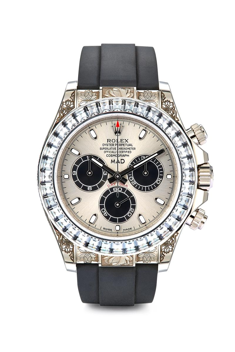MAD Paris Rolex Daytona 116505LN Black Release Information Closer Look Luxury Timepieces Watches Design Rare Diamonds Baguettes Engraving