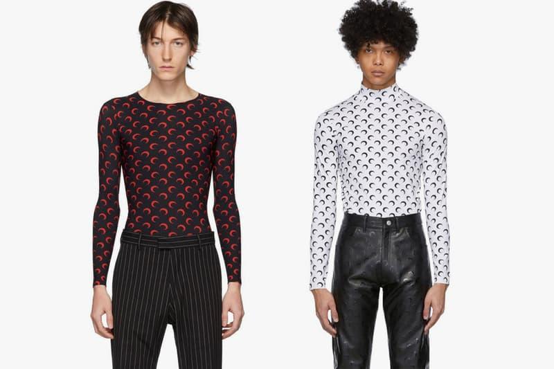"""Marine Serre """"Borderline"""" Underwear Collection essentials base layers tee shirt moon print logo pattern menswear"""