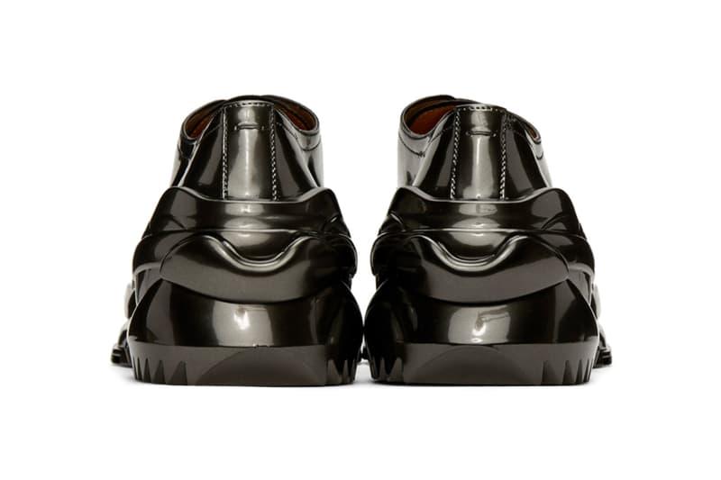 Maison Margiela Gunmetal Cross Derbys Dark Gull Gray footwear shoes sneakers runners trainers menswear streetwear spring summer 2020 collection kicks buffed leather