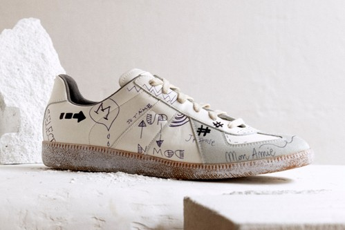 "Maison Margiela Gives Replica Sneakers ""Vintage Graffiti"" Treatment"