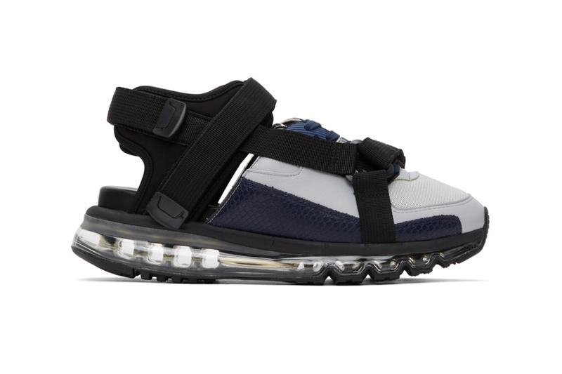 Maison Mihara Yasuhiro Half Sandals Black gray orange sneakers footwear shoes menswear streetwear runner trainers spring summer 2020 collection kicks japanese brand straps