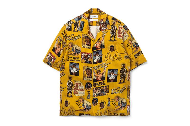 Elhaus MAPLE Hawaiian Shirt Silver Whistle jewelry menswear streetwear spring summer 2020 capsule collection accessories warm weather robert crumb prints artistic style 925