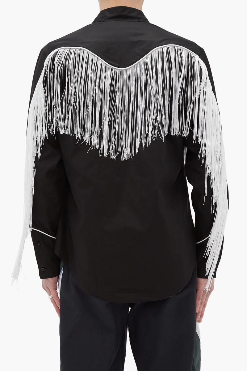 Martine Rose Reversible Fringed Cowboy Shirt menswear streetwear london east british english united kingdom designer spring summer 2020 collection button ups tassels americana