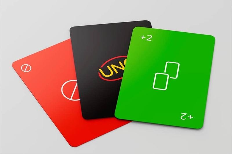 mattel card games uno minimalism sleek redesign minimalista deck party