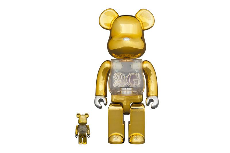 Medicom Toy BEARBRICK 2G 100 400 size gold plastic transparent translucent toys figures collectibles furniture spring summer 2020 collection shibuya parco nanzuka studio design