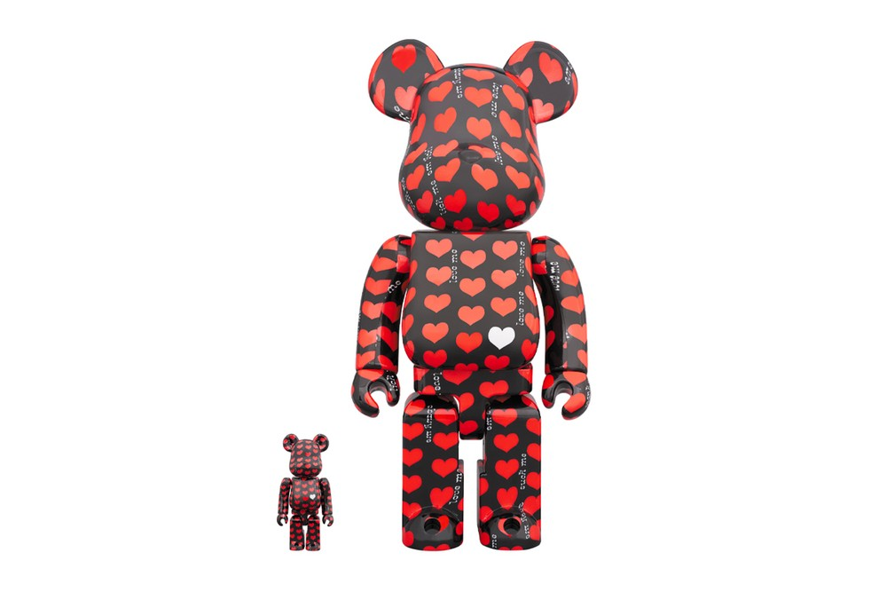 Medicom Toy BE@RBRICK Black Heart 100 400 toys figures accessories collectibles japanese toymakers manufacturer hide x japan guitarist rock band Yellow Heart love me spring summer 2020
