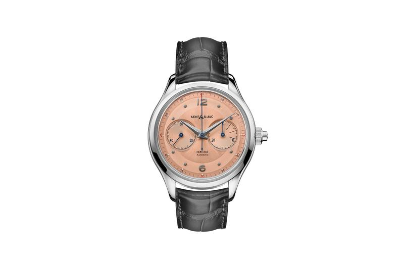 montblanc salmon dial 40s 50s minerva heritage monopusher chronograph archives vintage mid century timepiece watches accessories
