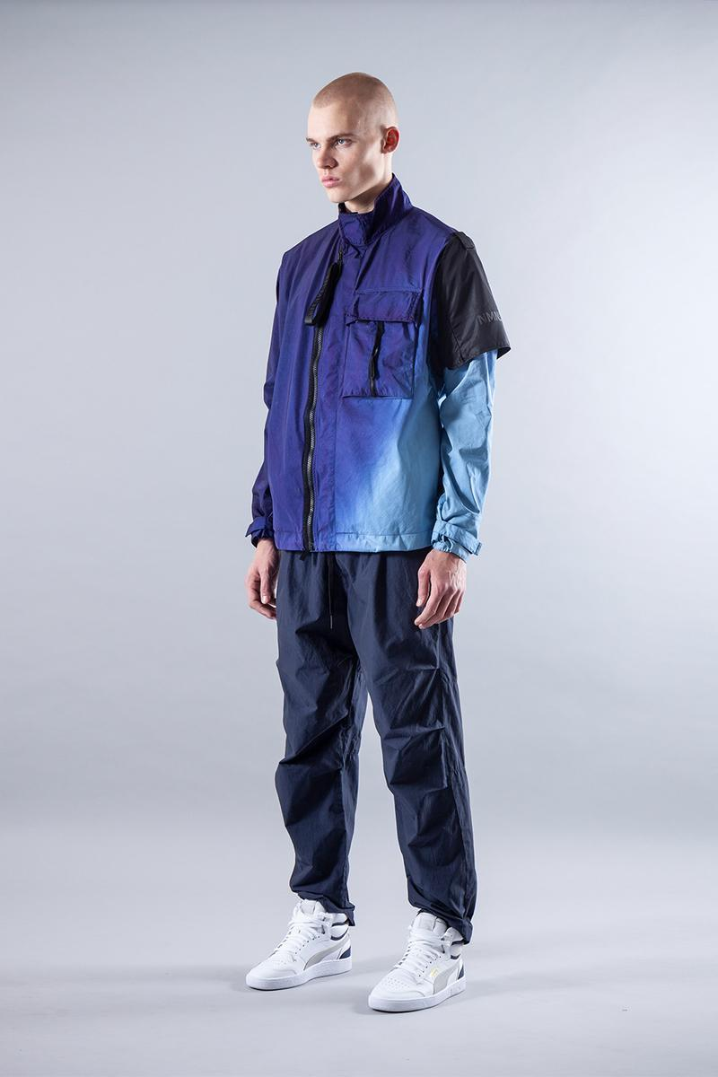 NemeN SS20 Collection Lookbook release info spring/summer techwear gradient tie-dye dip-dye garment dyeing domenico romeo NMN®_ZEPHYR 3L JACKET NMN®_XLT GUARD JACKET vest BANDO RAIN PARKA TWIST SMOCK