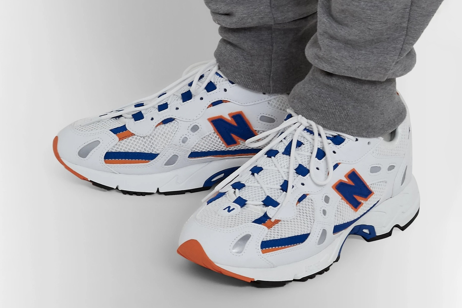new balance red white and blue