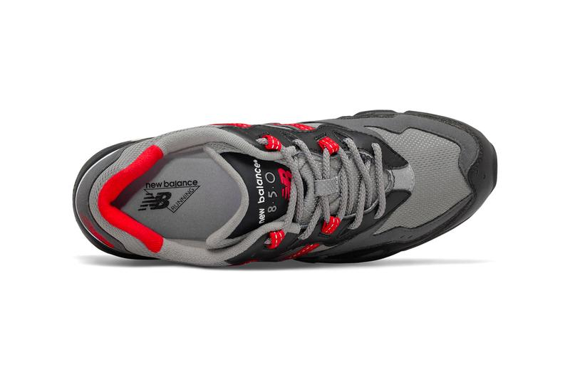 New Balance 850 Black Team Red gray sneakers shoes footwear kicks trainers runners menswear sneakers spring summer 2020 collection capsule silhouettes 1996 abzorb midsole