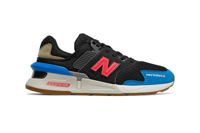 "new balance 997S sports modern silhouette neo classic blue lava red black sneakers shoes MS997JHZ release drop info NB ""Black/Neo Classic Blue"""