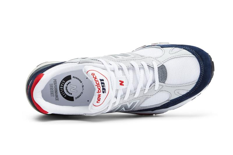 New Balance 991 Made in UK in Grey Navy Red M991GWR