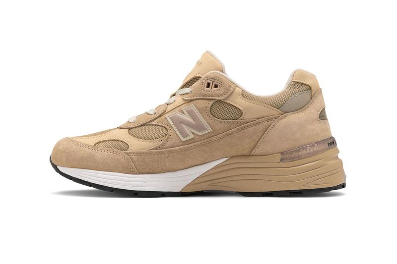 new balance made in us 992 sneakers tan with white colorway black with grey release 2020 american manufactured