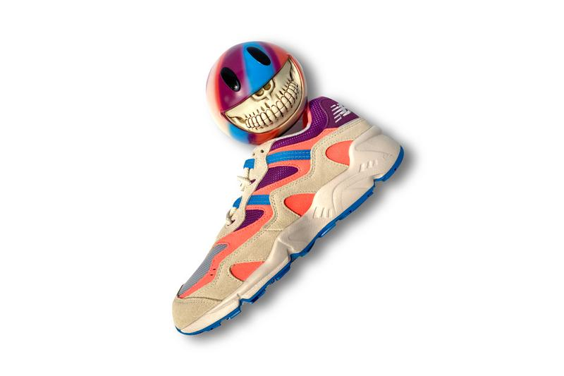 Ron English x New Balance 850 Sneaker Art Toy '850 Grin' Smiley Face Purple Pink Blue Collectible