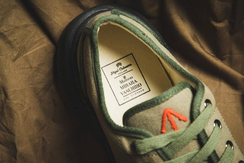 Nigel Cabourn x Maison Mihara Yasuhiro Army Combat Shoe British Army Military French Shoes Canvas Sneakers Vintage shoes kicks trainers
