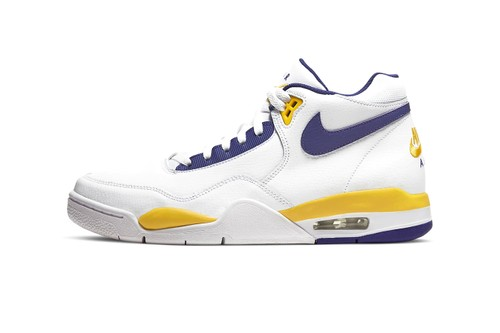 The Nike Air Flight Legacy Receives Classic Lakers Makeover