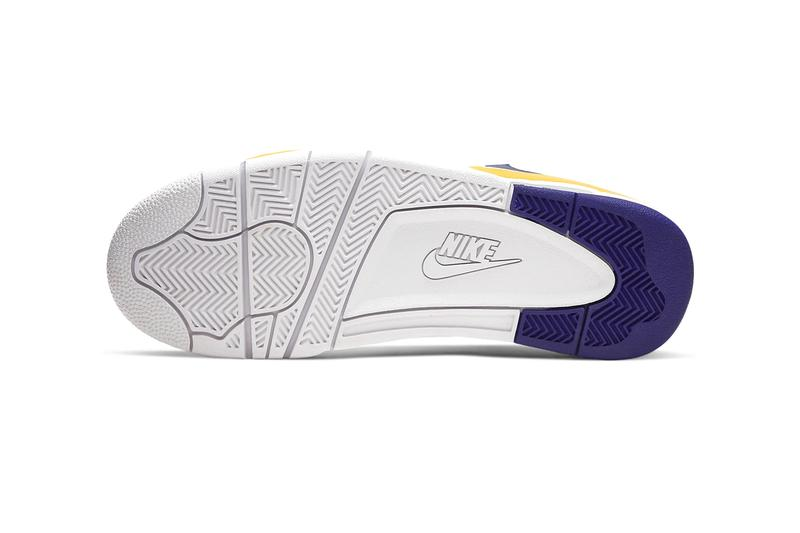 Nike Air Flight Legacy Lakers White University Gold Regency Purple Release BQ4212-102