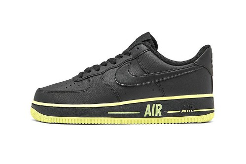 "Nike Drops Black Air Force 1 '07 With Vivid ""Barely Volt"" Highlights"