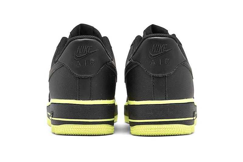 Nike Air Force 1 07 Black Barely Volt CJ1393 003 menswear streetwear shoes footwear sneakers trainers runners basketball court spring summer 2020 collection swoosh af1 kicks
