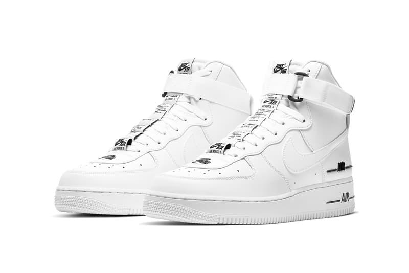 nike air force 1 high 07 lv8 3 white black CJ1385 100 release date info photos price