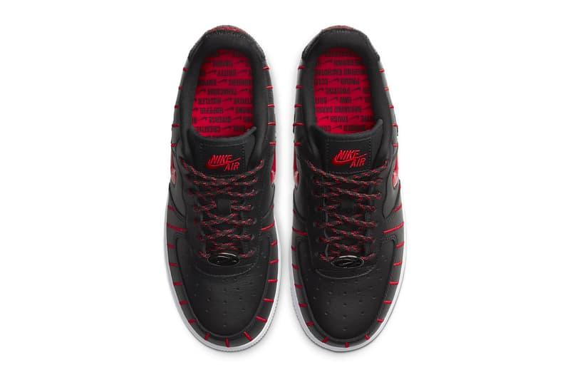 Nike Air Force 1 Jewel Black University Red White chicago bulls pinstripe menswear streetwear shoes sneakers footwear runners trainers kicks basketball spring summer 2020 collection