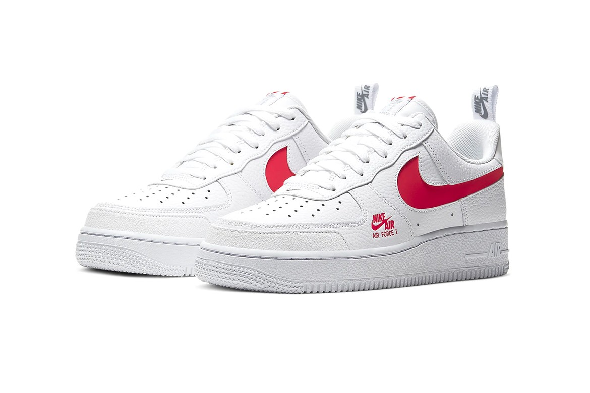 Nike Air Force 1 Lv8 Utility White University Red Hypebeast