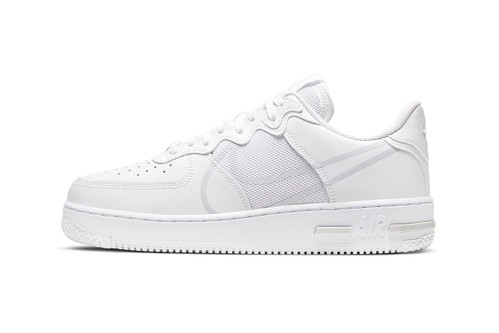 Nike Strips Air Force 1 React D/MS/X Back With All-White Colorway