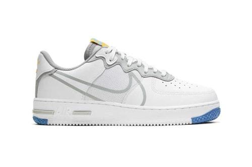 "Nike AF1 React D/MS/X Receives Crisp ""White/LT Smoke Gray"" Colorway"