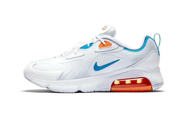Nike Air Max 200 White Laser Blue Football Gray Bombay CT1262 001 Miami Dolphins Color sneakers footwear shoes menswear streetwear spring summer 2020 collection sneakers trainers