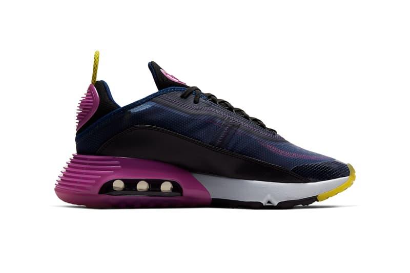 nike sportswear air max 2090 blue void black active fuchsia chrome yellow CT7695 401 release date info photos price