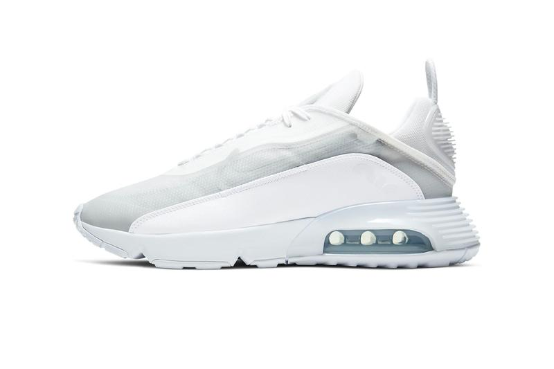Nike Air Max 2090 Pure Platinum White wolf gray menswear streetwear sneakers shoes kicks trainers runners 2020 spring summer collection swoosh BV9977 100 air unit sole footwear