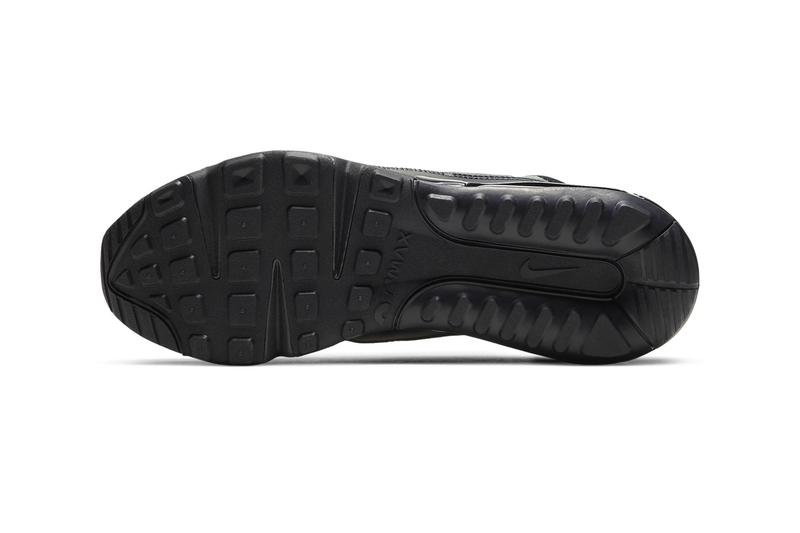 """Nike Air Max 2090 Appears in """"Triple Black"""" Colorway anthracite drop price release info Color: Black/Wolf Grey/Anthracite/White Style Code: BV9977-001"""