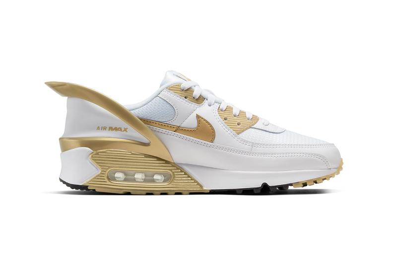 nike air max 90 flyease white black metallic gold deep royal blue hyper pink CU0814 100 101 release date info photos price
