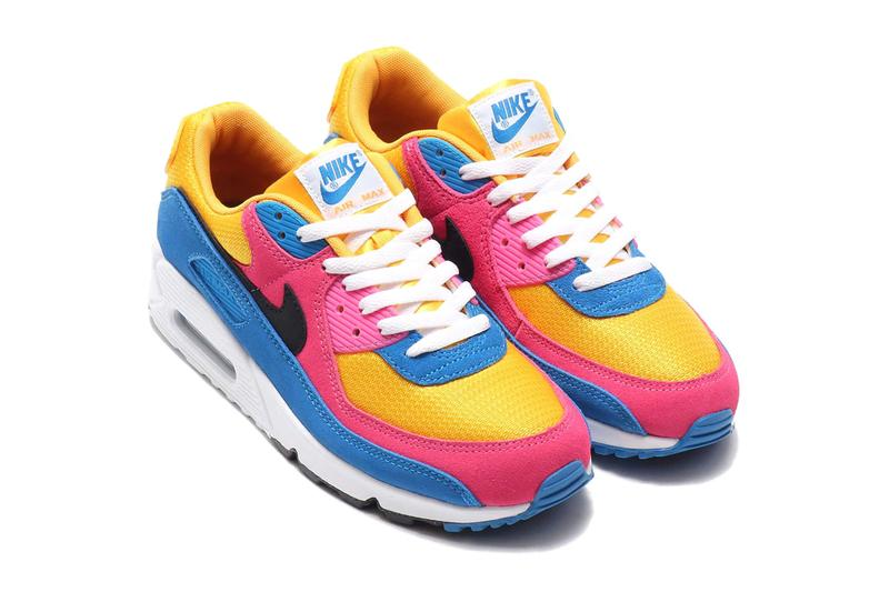 nike air max 90 multicolor suede yellow pink blue black white CJ0612 700 release date info photos price