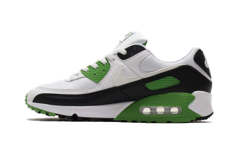 CT4352-102 nike air max 90 30th anniversary white chlorophyll colorway sneakers shoes