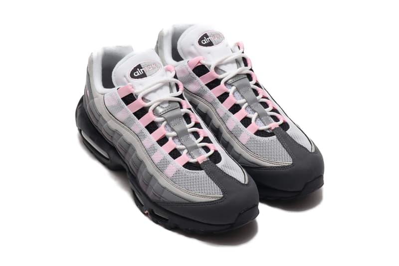 Nike Air Max 95 Black Pink Foam cj0588 001 GUNSMOKE GREY FOG menswear streetwear swoosh sneakers shoes footwear kicks trainers runners low top spring summer 2020 collectionq