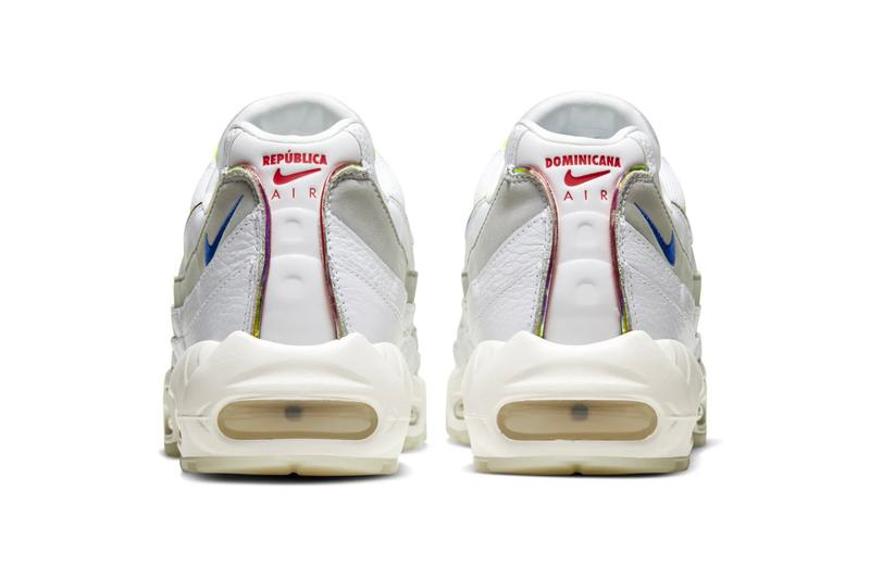 Nike Air Max 95 De Lo Mio sneakers shoes footwear menswear streetwear kicks trainers runners spring summer 2020 collection swoosh dominican republic white ecru air unit sole
