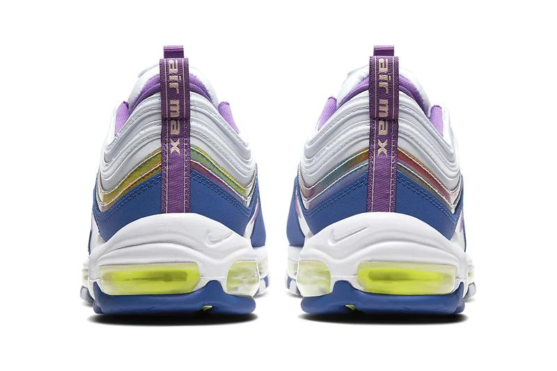 Nike Air Max 97 Air Max 90 Air Max 270 React Easter Pack Release Information Seasonal Footwear Sneaker Drop Date Swoosh White/Washed Coral/Hyper Blue/Purple Nebula White/Washed Coral/Hyper Blue/Multi-Color Eggs Colorways