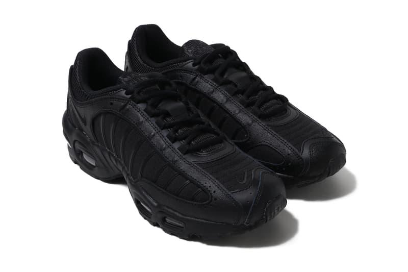 Nike Air Max Tailwind IV Black Black triple mens sneakers streetwear footwear shoes runners trainers kicks spring summer 2020 collection aq2567 005 swoosh tonal sportswear
