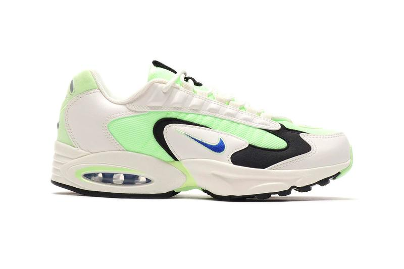 Nike Air Max Triax Barely Volt Racer Blue SAIL BLACK ct1104 700 spring summer 2020 collection menswear streetwear shoes footwear kicks trainers runners marathon sneakers